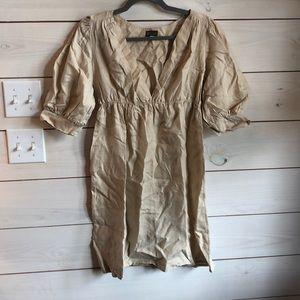 Anthropologie linen Fei dress medium